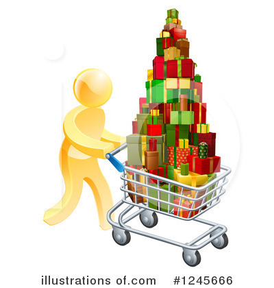 Christmas Shopping Clipart #1245666 by AtStockIllustration