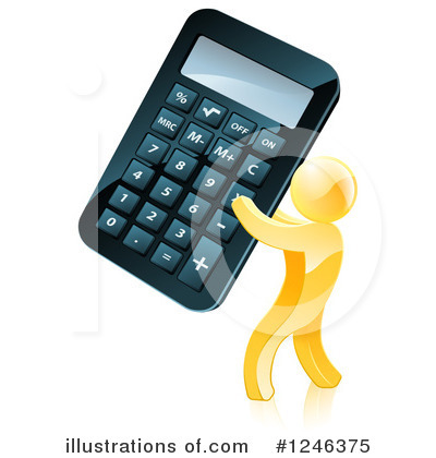 Calculator Clipart #1246375 by AtStockIllustration