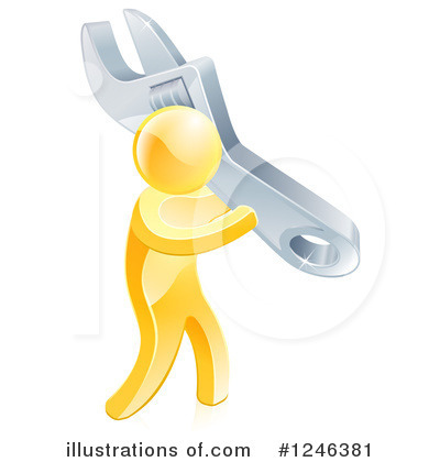Plumber Clipart #1246381 by AtStockIllustration