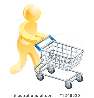 Shopping Cart Clipart #1248620 by AtStockIllustration