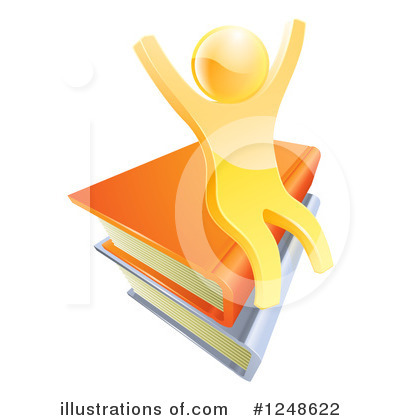 Reading Clipart #1248622 by AtStockIllustration