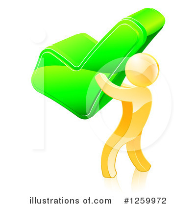 Gold Man Clipart #1259972 by AtStockIllustration