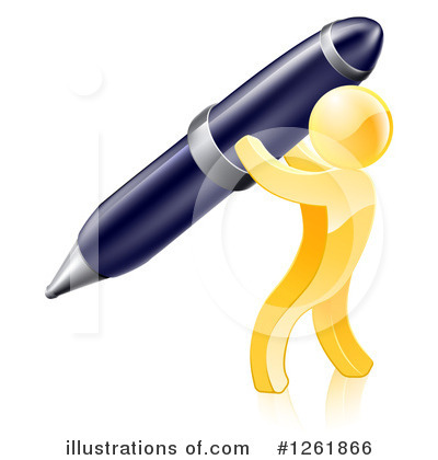 Writing Clipart #1261866 by AtStockIllustration