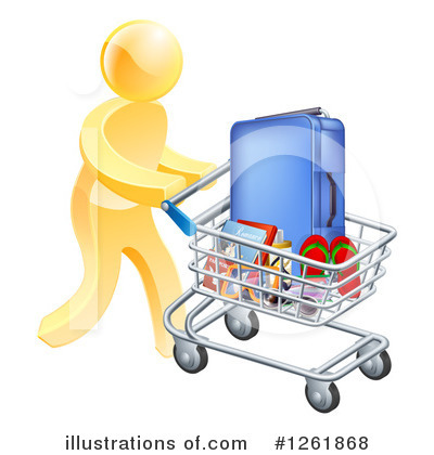 Shopping Cart Clipart #1261868 by AtStockIllustration