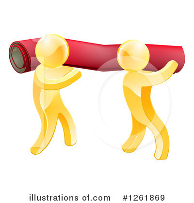 Gold Man Clipart #1261869 by AtStockIllustration
