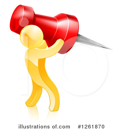 Gold Man Clipart #1261870 by AtStockIllustration