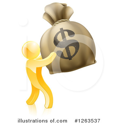 Royalty-Free (RF) Gold Man Clipart Illustration by AtStockIllustration - Stock Sample #1263537