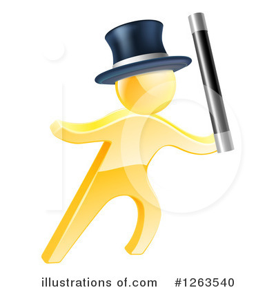 Gold Man Clipart #1263540 by AtStockIllustration