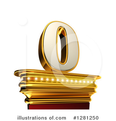 Gold Number Clipart #1281250 by stockillustrations