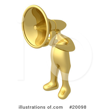 Royalty-Free (RF) Gold Person Clipart Illustration by 3poD - Stock Sample #20098