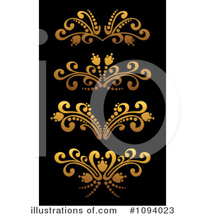 Gold Design Elements Clipart #1094023 by Vector Tradition SM