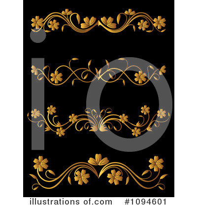 Gold Design Elements Clipart #1094601 by Vector Tradition SM