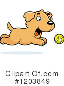 Golden Retriever Clipart #1203849 by Cory Thoman