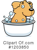 Golden Retriever Clipart #1203850 by Cory Thoman