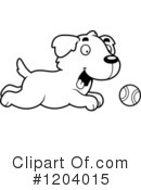 Golden Retriever Clipart #1204015 by Cory Thoman