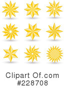 Golden Star Clipart #228708 by KJ Pargeter