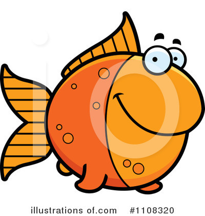 Goldfish Clipart #1108320 by Cory Thoman