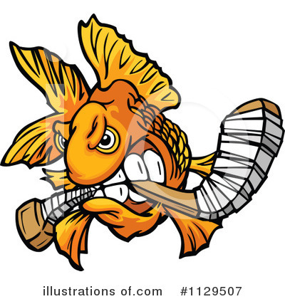 Royalty-Free (RF) Goldfish Clipart Illustration by Chromaco - Stock Sample #1129507
