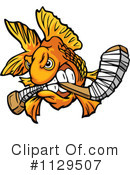 Royalty-Free (RF) Goldfish Clipart Illustration #1129507