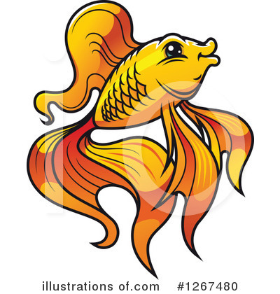 Goldfish Clipart #1267480 by Vector Tradition SM