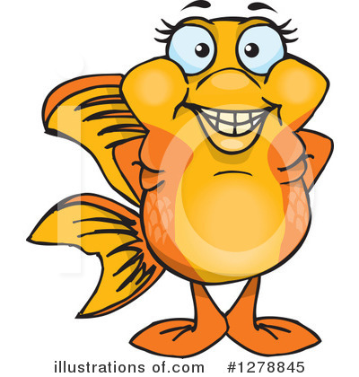 Goldfish Clipart #1278845 by Dennis Holmes Designs