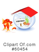 Royalty-Free (RF) Goldfish Clipart Illustration #60454