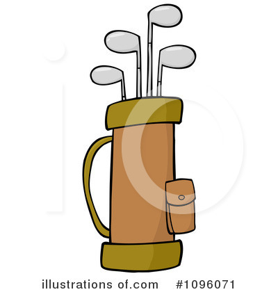 Royalty-Free (RF) Golf Bag Clipart Illustration by Hit Toon - Stock Sample #1096071