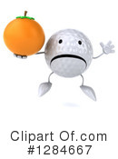 Golf Ball Character Clipart #1284667 by Julos