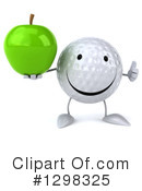 Golf Ball Character Clipart #1298325 by Julos