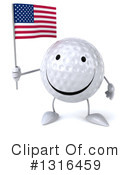 Golf Ball Character Clipart #1316459 by Julos