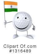 Golf Ball Character Clipart #1316489 by Julos