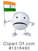 Golf Ball Character Clipart #1316490 by Julos