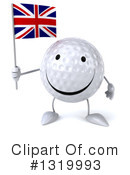 Golf Ball Character Clipart #1319993