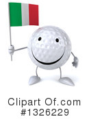 Golf Ball Character Clipart #1326229 by Julos