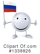 Golf Ball Character Clipart #1338826 by Julos