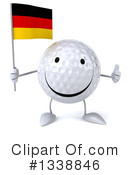 Golf Ball Character Clipart #1338846 by Julos