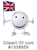 Golf Ball Character Clipart #1338859 by Julos