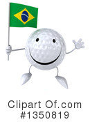 Golf Ball Character Clipart #1350819 by Julos