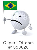 Golf Ball Character Clipart #1350820 by Julos