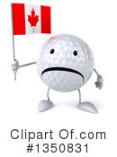 Golf Ball Character Clipart #1350831 by Julos