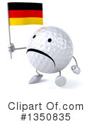 Golf Ball Character Clipart #1350835 by Julos