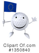 Golf Ball Character Clipart #1350840 by Julos