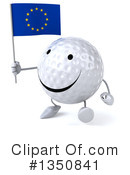 Golf Ball Character Clipart #1350841 by Julos