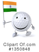 Golf Ball Character Clipart #1350848 by Julos