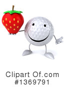 Golf Ball Character Clipart #1369791 by Julos