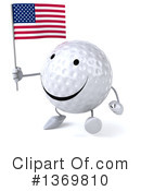 Golf Ball Character Clipart #1369810 by Julos