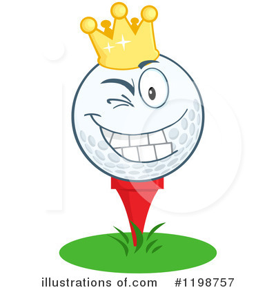 Golf Ball Clipart #1198757 by Hit Toon