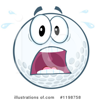 Golf Ball Clipart #1198758 by Hit Toon