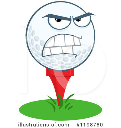 Golf Ball Clipart #1198760 by Hit Toon
