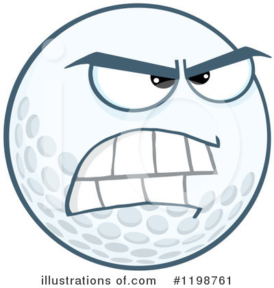 Golf Ball Clipart #1198761 by Hit Toon